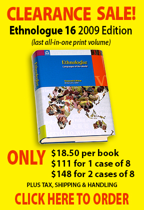 Ethnologue 16th Edition Clearance Sale