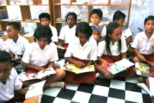 students in reading class
