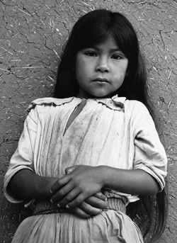 A charming Tzeltal girl of Chiapas, Mexico. Photo: Cornell Capa.