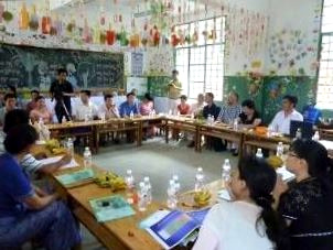 education officials in classroom