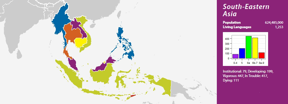 Payap University Hosts Linguists From Across Asia For SEALS - Asia language map