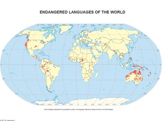 Language Map Of World.Unesco Invites Sil Cartographer To Language Mapping Meeting Sil
